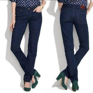Madewell Rail Straight Dark Wash Jeans Size 27x34